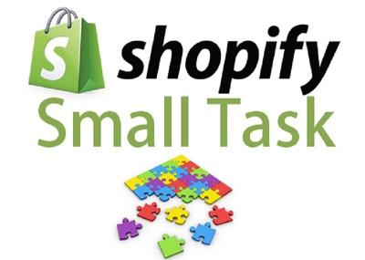 Shopify Theme Tweak (1 hour task)