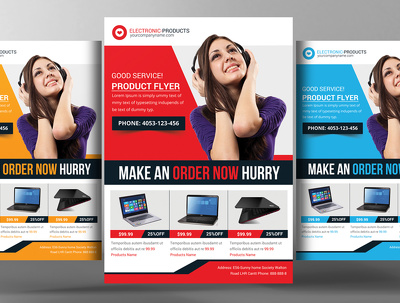 Design a professional flyer, postcard, business card etc