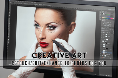 Retouch/edit/enhance 15 photos for you