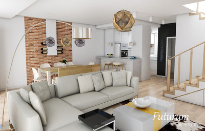 Create 3 high quality interior renderings