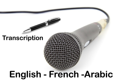 Transcribe up to 30 min of English / French or Arabic audio to Word