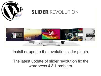 Install, update the latest Slider Revolution for Wordpress