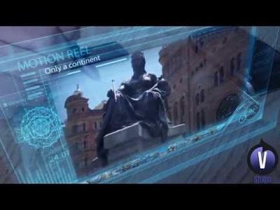 Edit futuristic promotional video
