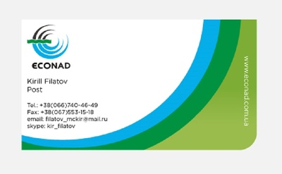 Design clean professional business cards