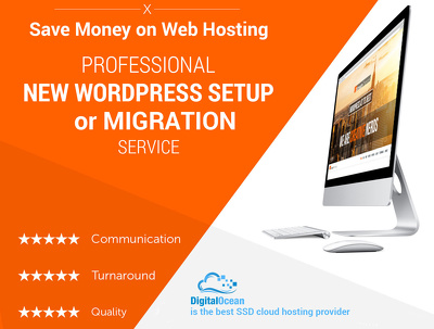 Setup or transfer your WordPress site to fast Digitalocean hosting