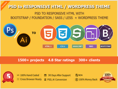 PSD to WordPress Cross browser Comoatible & SEO Friendly