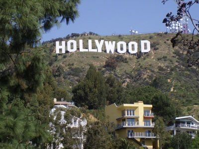 Write your name, product, business, on Hollywood Hills