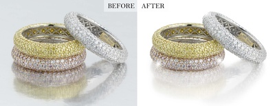 Retouch and edit 10 jewelry pictures in Studio Quality