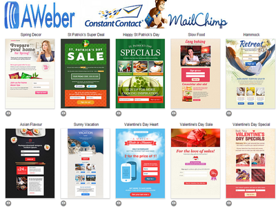 Create HTML, MailChimp, Aweber forms and templates for Email Newsletters