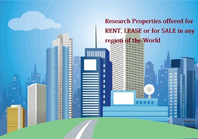 Research properties offered for  rent, lease or for sale anywhere in the World