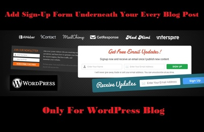 Add signup form underneath your every blog post