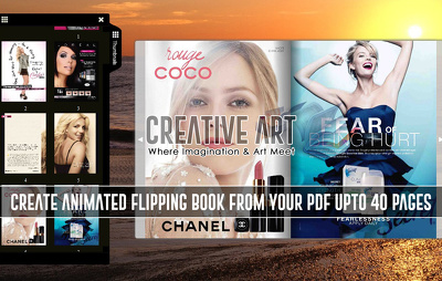 Create Animated Flipping Book From Your PDF Upto 40 Pages
