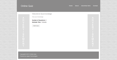 Make online quiz website