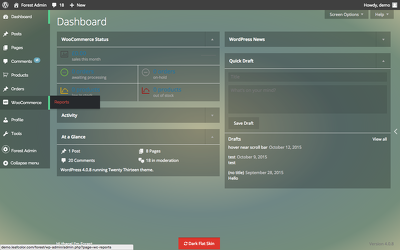 Convert your WordPress Admin Panel into an awesome look