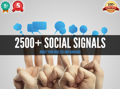 generate 2500+ social signals (likes, tweets,+1) to boost your web SEO and ranking