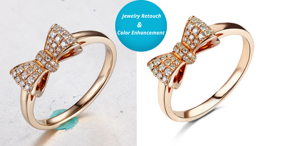 10 Jewelry Images Retocuh and Color Enhance only