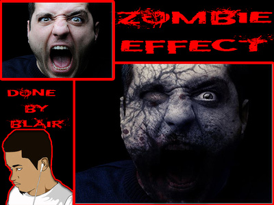 Make your face into a zombie