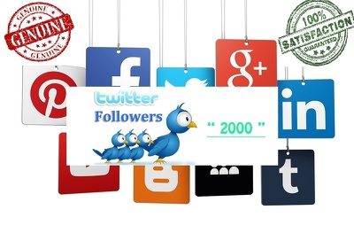 Add 2000-3000 Twitter followers to increase your SEO