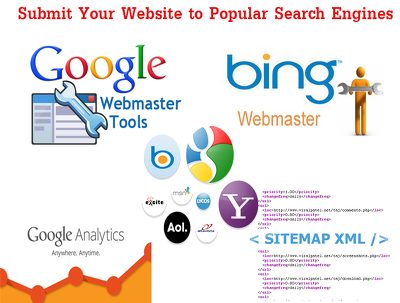 Setup Google & Bing Webmaster tool, Sitemap creation & Analytic
