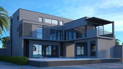 Provide you the modern exterior design/rendering for your villa/house.