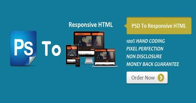 Convert PSD to HTML5 & CSS3, Fully Responsive with Pixel Perfect Design