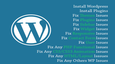 Fix wordpress errors, bug, or issues within 24hr