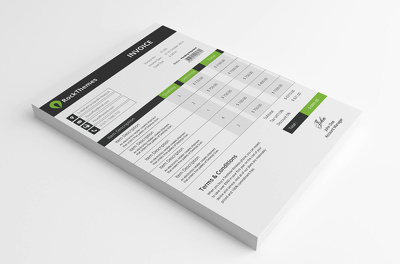 Business Invoice Template Design with doc file (Black Friday Offer)