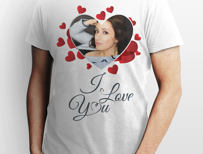 Create an I love you t-shirt which you can dedicate to your loved ones