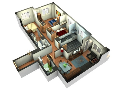Create a professional 2D rendering of your floor plan from your sketches