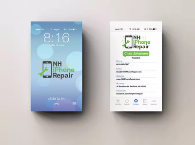 Design you an iphone style business card