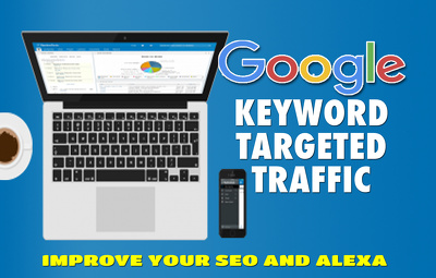 Keyword Traffic - Google Search Organic Traffic - Up To 500 Searches Per Day