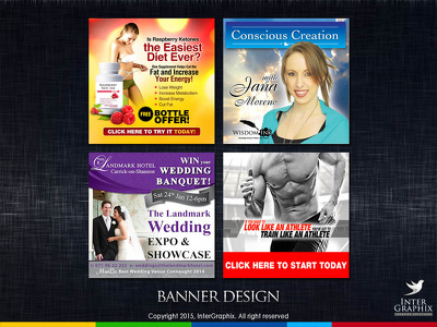 Design a great web banner ad set - 4 or more sizes