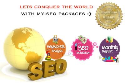 Choice of 3 LUXURY SEO PACKAGE - 30 DAYS SEO AND BACKLINKs