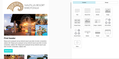 Build a mail chimp drag and drop template