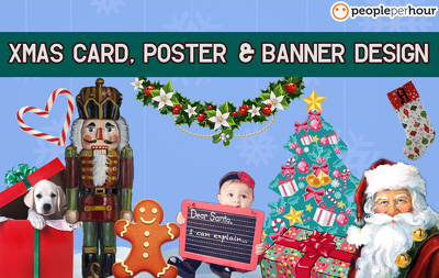 Design a XMAS card, poster, or banner for your business or personal use