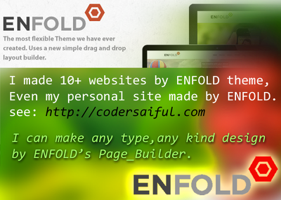Company / personal / portfolio website by ENFOLD theme with customization design