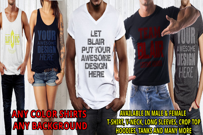 MAKE A 3D T SHIRT MOCKUP WITH YOUR LOGO / IMAGE