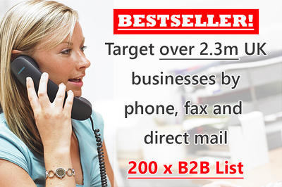 Provide you with targeted 200 X B2B data for UK companies - perfect for telemarketing
