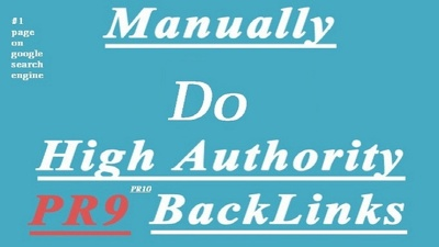 Build 50 plus strong backlink from Top PR10 to PR8 authority site manually-1st page