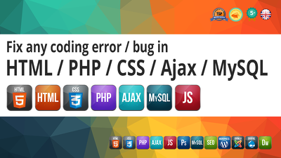 Fix code error in HTML / CSS / PHP / Javascript / Ajax