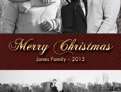 Customize a photo Christmas card