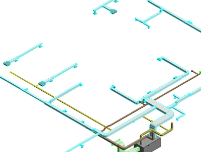 Model & Coordinate for MEP Design layout by Revit MEP.