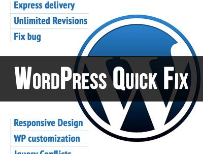 Resolve Wordpress issue/error or problem