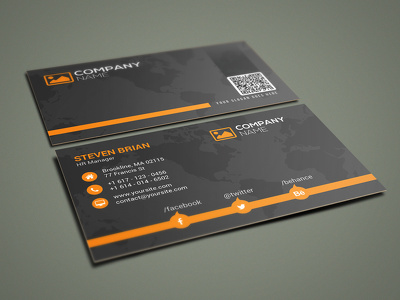 Design professional and modern double sided business card