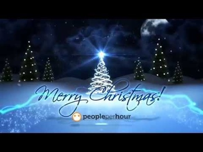 create Merry Christmas Greeting Card with your logo or text