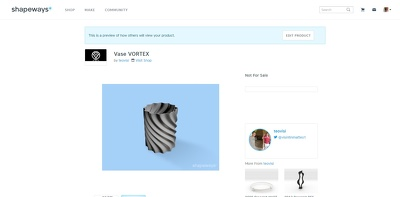 Provide a 100% correct Design for SHAPEWAYS - 3D Printing