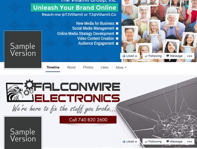 Design attractive Facebook cover image