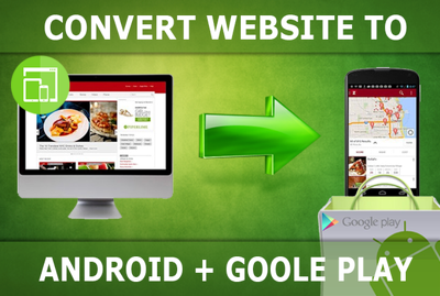Convert your website to an  Android cool app with ios, windows version