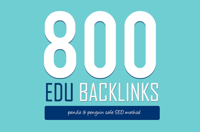 800 top quality EDU SEO'd backlinks to help you rank higher in search engines