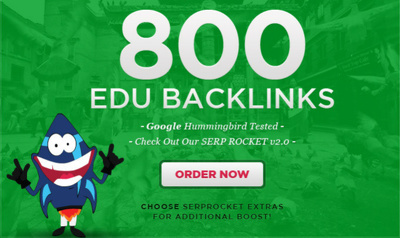 Get 800 edu high quality SEO backlinks and rank higher with Google